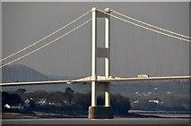 ST5590 : Severn Beach : Severn Bridge by Lewis Clarke
