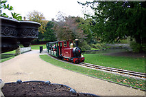 SK0573 : Miniature railway in The Pavilion Gardens Buxton by Jo Turner