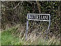 TM2796 : Baxter's Lane sign by Adrian Cable