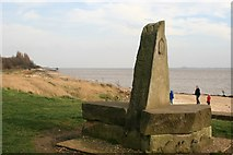 TA0225 : Wolds Way marker on Hessle Foreshore by Graham Hogg