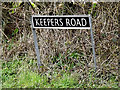 TM2398 : Keepers Road sign by Geographer