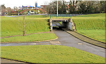 J3876 : Cycle lanes and subways, Sydenham bypass, Tillysburn, Belfast - March 2014(2) by Albert Bridge