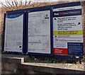 ST8550 : Information boards at the entrance to platform 1, Dilton Marsh railway station by Jaggery