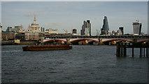 TQ3180 : View Towards Blackfriars Bridge by Peter Trimming