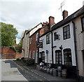 SO7137 : Kegs outside the Prince of Wales, Ledbury by Jaggery