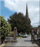 SO7137 : Entrance to St Michael and All Angels church, Ledbury by Jaggery