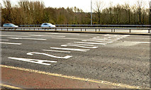 J3876 : Road markings, Sydenham bypass, Tillysburn, Belfast (March 2014) by Albert Bridge