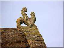 SK8608 : Gable finial on the Castle Hall by Alan Murray-Rust