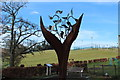 NX6280 : The Dalry Covenanter Sculpture, The Burning Bush by Billy McCrorie