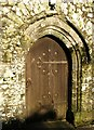 SX4577 : Door, St Peter's church, Lamerton by Derek Harper