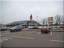 SO9596 : Supermarket Car Park by Gordon Griffiths