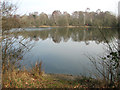 TG1612 : View from the footpath skirting Costessey Pits by Evelyn Simak
