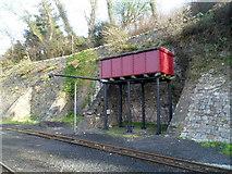 SH4862 : Water tower at Caernarfon railway station by Jaggery