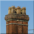 SO9098 : Chimney stack in Tettenhall Road, Wolverhampton by Roger  Kidd