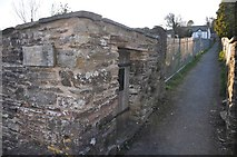 SS9531 : Brompton Regis : The Village Lock Up by Lewis Clarke