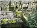 SE0420 : Former railway bridge over field access track by Humphrey Bolton