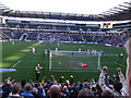 SP8735 : A penalty to Peterborough at Stadium MK by Richard Humphrey