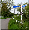 ST5686 : National Cycle Network signpost, Northwick by Jaggery