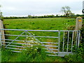 ST5686 : Access gate to a public footpath in Northwick by Jaggery