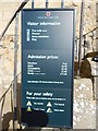 TM4149 : Orford Castle visitor information sign by Hamish Griffin