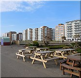 TQ2704 : Picnic tables - Hove Seafront by Paul Gillett
