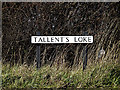 TM3690 : Tallent's Loke sign by Adrian Cable