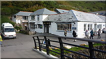 SX0991 : Café and Witchcraft Museum, Boscastle from bridge by Clint Mann