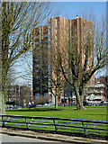 SO9098 : Park and offices in Wolverhampton by Roger  Kidd