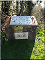 TM3689 : Millennium Sign & Plaque by Geographer