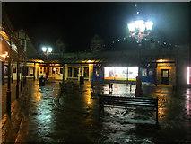 NY3704 : Shopping area at night, Ambleside by Graham Robson