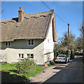 TL5136 : Wendens Ambo: pargetting and thatch by John Sutton
