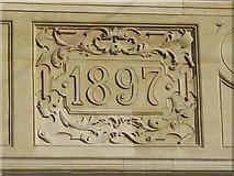 TQ3296 : Date stone on Barclays Bank, Church Street, EN2 by Mike Quinn