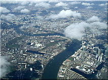 TQ3778 : The Isle of Dogs from the air by Thomas Nugent