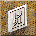 TQ3280 : Datestone on HSBC building by Stephen Craven