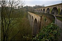 SJ2837 : Early Morning at Chirk Aqueduct and railway Viaduct by Peter Skynner
