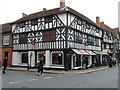 SP2054 : Black and white corner of Ely Street and High Street, Stratford-upon-Avon by Jaggery