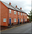 SP1955 : Row of 3 houses in Mansell Street, Stratford-upon-Avon by Jaggery