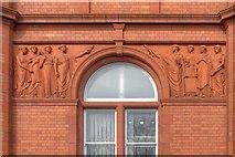 SJ8198 : Peel Building (detail) by David Dixon