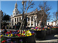 TQ3877 : Spring flowers in Greenwich town centre by Stephen Craven
