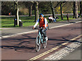 TQ3877 : Adult cyclist in Greenwich Park by Stephen Craven