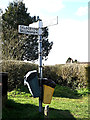 TM3792 : Roadsign on Mill Road by Adrian Cable