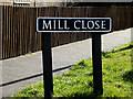 TM3792 : Mill Close sign by Adrian Cable