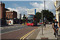 TQ3276 : Southbound No 40 bus approaches Camberwell Green by Robin Stott