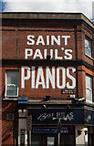 TQ2284 : Ghost sign, Linacre Road by Julian Osley