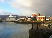J3475 : River Lagan, Belfast Harbour by Darrin Antrobus