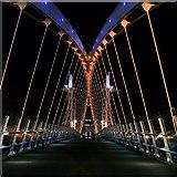 SJ8097 : Lowry Bridge at Night by David Dixon