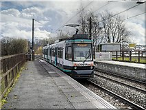SD7807 : T68 Tram 2001 Leaving Radcliffe by David Dixon