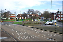 TQ7669 : Roundabout, Dock Rd by N Chadwick