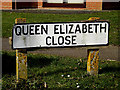 TM4461 : Queen Elizabeth Close sign by Adrian Cable