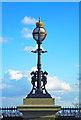 TQ2987 : Lamp standard, Archway Bridge by Julian Osley